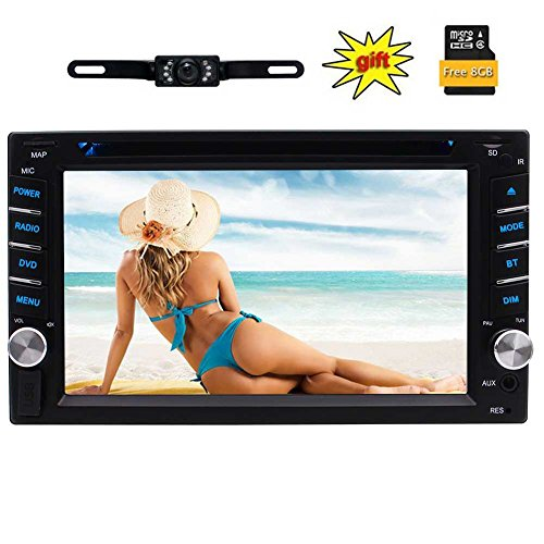 Double Din Car Stereo with Car GPS Navigation 8GB Card: Amazon.co.uk: Electronics