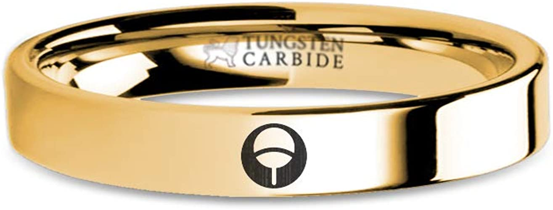 Naruto Fan Insignia Uchiha Sasuke Family Gold Tungsten Ring 8 mm