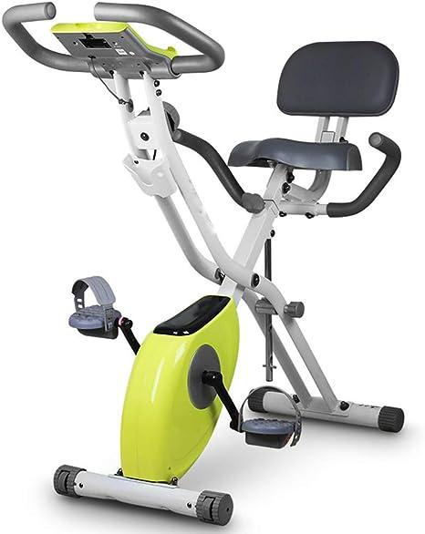 HLeoz Bicicleta Estática, Plegable Bicicleta Spinning Exercise ...