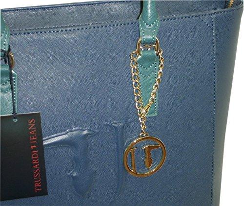 Borsa TRUSSARDI JEANS B552 handbag SHOPPING ischia BLU