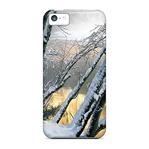 Iphone 5c Case, Premium Protective Case With Awesome Look - River Thru Winter
