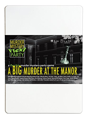 Murder Mystery Flexi Party A Big Murder at The Manor 6-20 Player (Party Invitations Mystery)