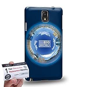 Case88 [Samsung Galaxy Note 3] 3D impresa Carcasa/Funda dura para & Tarjeta de garantía - Art Fashion Navy Blue Humor Inspiration