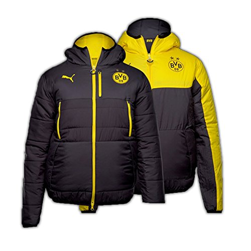 2016-2017 Borussia Dortmund Puma Reversible Jacket (Black-Yellow)