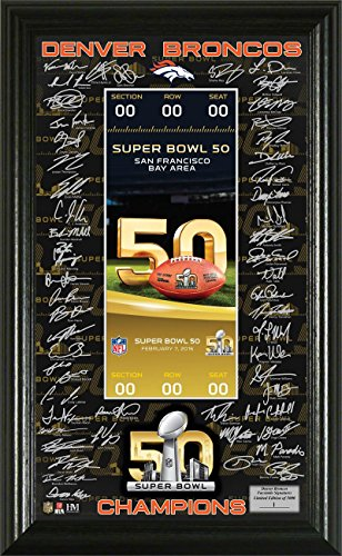 Champions Team Photomint (Denver Broncos Super Bowl 50 Champions Signature)