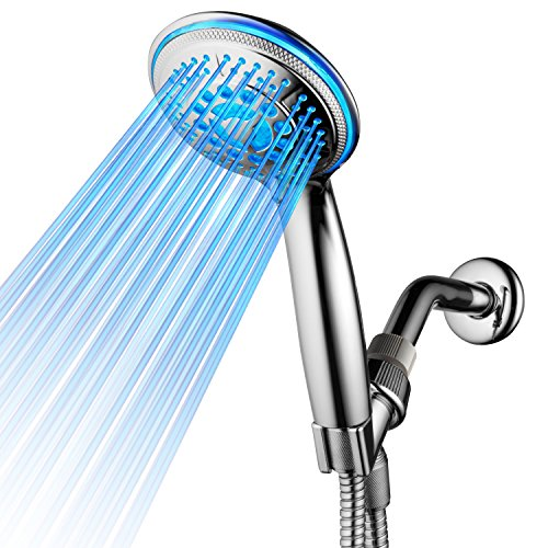 - DreamSpa All Chrome Water Temperature Controlled Color Changing 5-Setting LED Handheld Shower-Head by Top Brand Manufacturer! Color of LED lights changes automatically according to water temperature