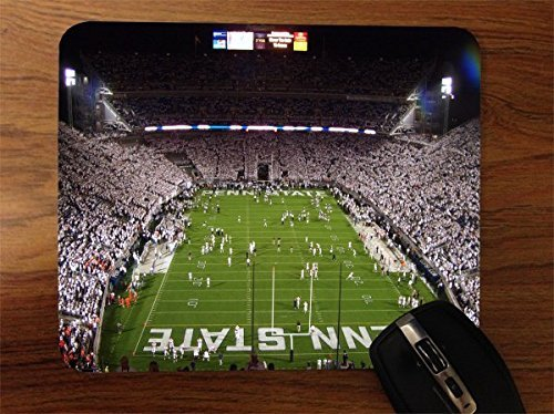 Penn Pad Mouse State - Penn State Football Stadium Desktop Office Silicone Mouse Pad by Compass Litho
