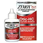 ZYMOX Plus OTIC-HC 1.25 fl. oz Hydrocortisone 1.0% Dog Cat Ear Otitis Treat..