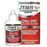 New ZYMOX PLUS OTIC-HC 1.25 fl. oz Hydrocortisone 1.0 % Dog Cat Ear Otitis Treatment