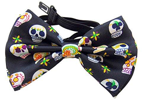 Day of The Dead Bow Tie Formal Tuxedo Wear Dia De Los Muertos]()