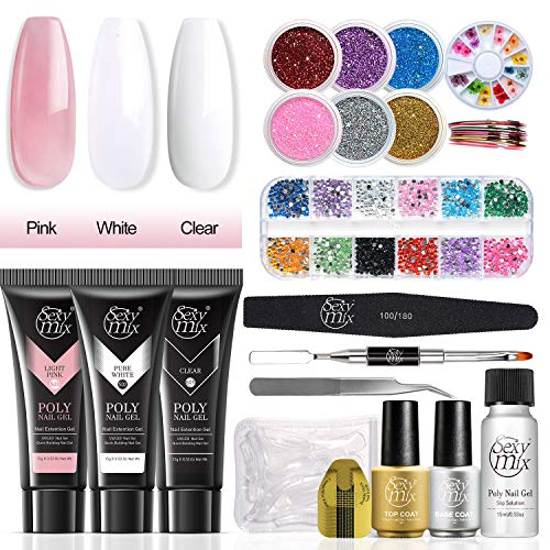 Used, SEXY MIX Poly Nail Gel Kit,Nail Extension Builder UV for sale  Delivered anywhere in USA