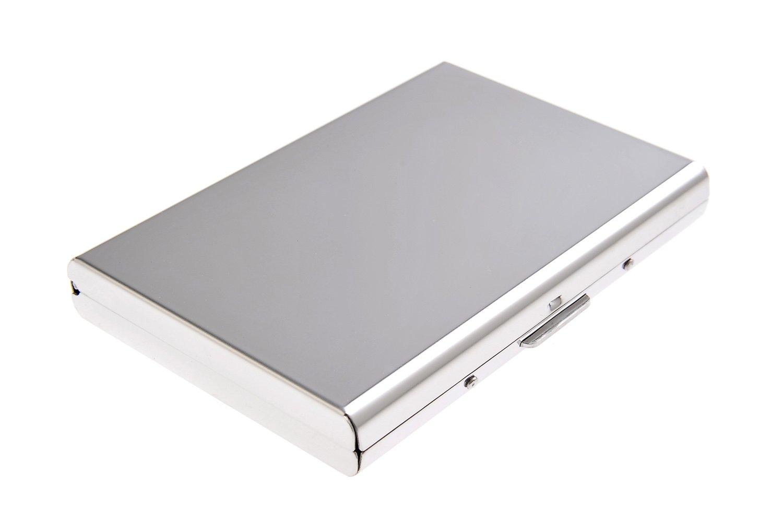 Portabiglietti da visita in acciaio inox, con superifice liscia e lucida e 6 scomparti, Mod. 446-07 (DE)