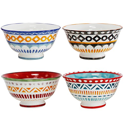 "Euro Ceramica Amalfi Collection 6"" Porcelain Cereal/Soup Bow"