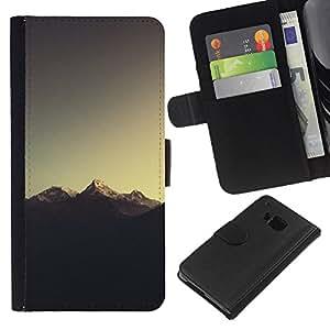NEECELL GIFT forCITY // Billetera de cuero Caso Cubierta de protección Carcasa / Leather Wallet Case for HTC One M9 // Montaña Nevada del Everest