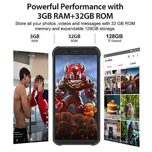 Téléphone Incassable, Blackview® BV5500 Plus Android 10 Smartphone Débloqué 4G avec Écran 5.5 Pouces, 3Go+32Go (SD 128Go… 3