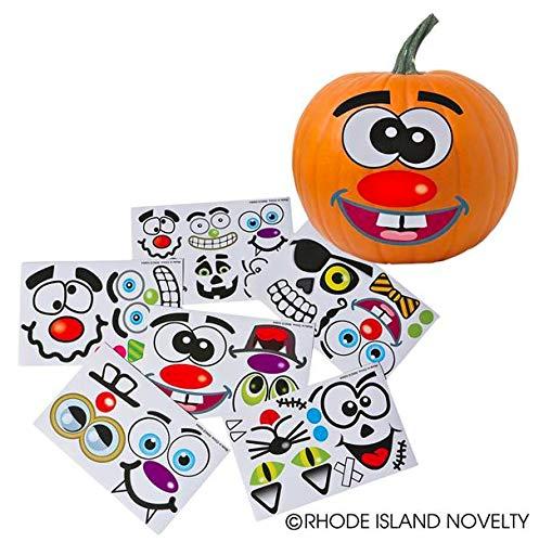 Make a Pumpkin Jack-o-lantern Halloween Sticker Sheets]()