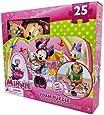 Amazon Com Disney Minnie Bowtique 7 Wood Puzzles In