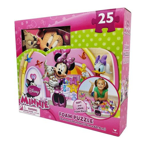 3 Floor Puzzle Mat - Disney Minnie 25-piece Floor Foam Puzzle Mat