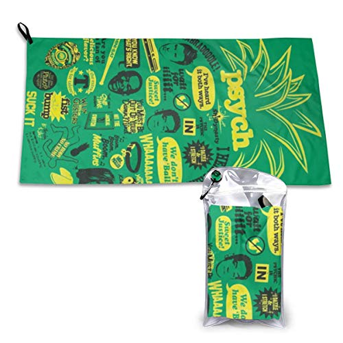 Gfiusgh Psych Pineapple Quote Mash Up Quick Dry Towel 15.7'' X 31.5'' Quick Drying, with Packing Bags and Mountaineering Buckles -