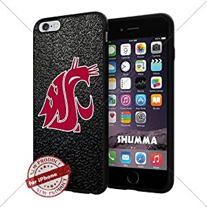 """NCAA Washington State Cougars Cool iPhone 6 Plus (6+ , 5.5"""") Smartphone Case Cover Collector iphone TPU Rubber Case Black"""