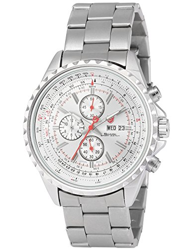 Shark Men's SH339 Analog Chronograph Date Day Display Stainless Steel Quartz Watch