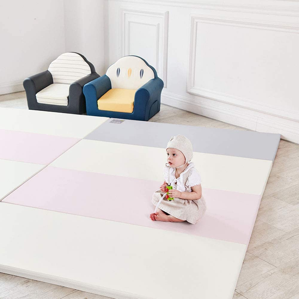 Alzip Mat Non-Toxic, Non-Slip, Waterproof Eco Color Folder Duo Duo Blue, SG Baby Playmat