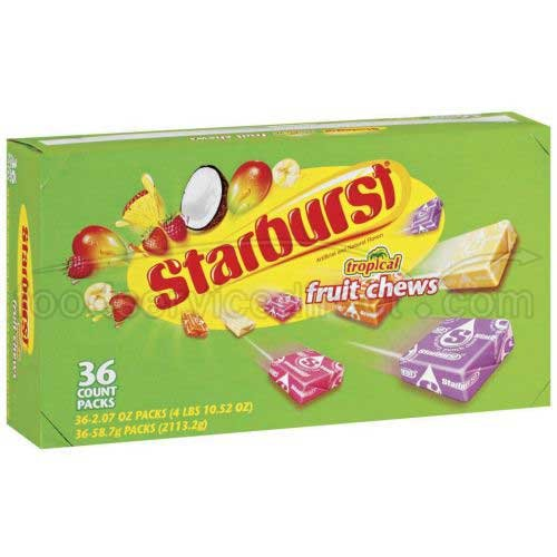 Wrigley'S Starburst Fruit Candy, Tropical, 36 Count (10 Pack) (Pack of 10) by Starburst