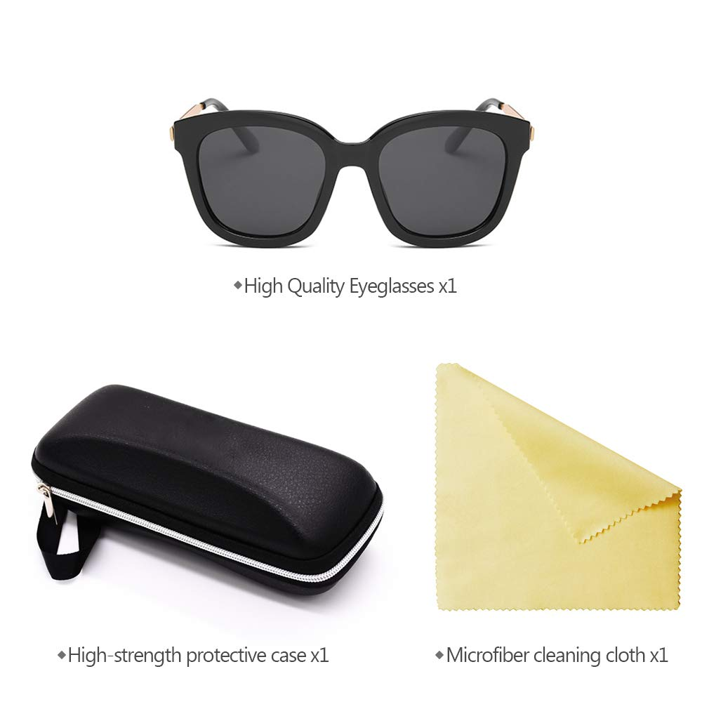 BOZEVON Men Women Polarized Sunglasses Classic Rimmed UV400 Driving Sunglasses