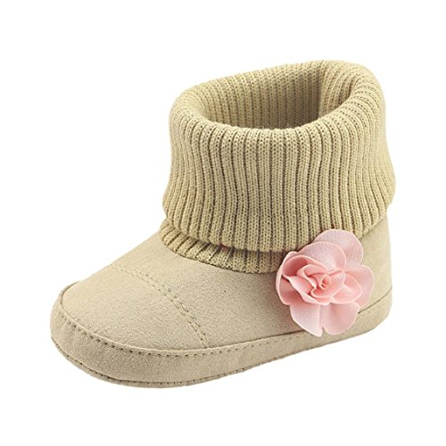 Baby Soft Sole Snow Crib Shoes Toddler Boots Pink - 1