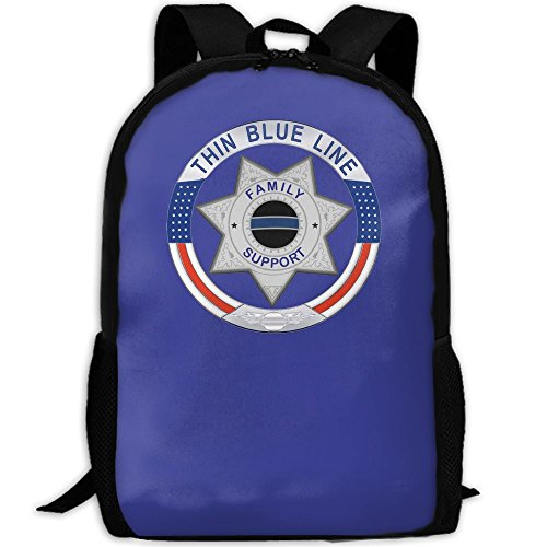 Thin Blue Line Family Logo Interest Print Custom Unique Casual Backpack School Bag Travel Daypack - Bag Logo Custom Sunglasses