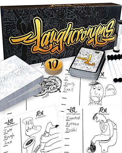 (Laughcronyms Party Games for Adults or Families - Hilarious Adult Humor (or Family Friendly) Party Game of Fast Funny Drawing and Quick Creative Thinking - Adult Games for Groups of)