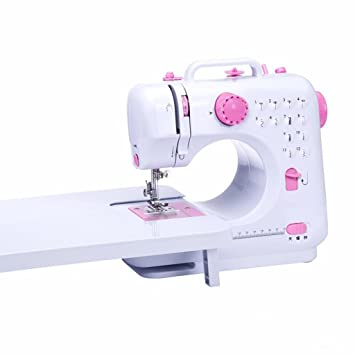 Xuan - worth having Máquina de coser Small Desktop Lock Edge Electric Household 12 tipos de puntadas cambian el pie Presser (Color : Pink) : Amazon.es: ...