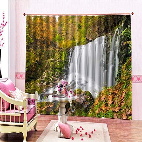 QinKingstore クラシック洗える印刷カーテンドアカーテンホーム寝室リビングルームカーテンホテル装飾カーテン150 * 166センチ