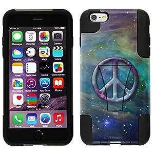 Trek Hybrid Stand Case for Apple iphone 5c- Peace on Nebula Blue Green
