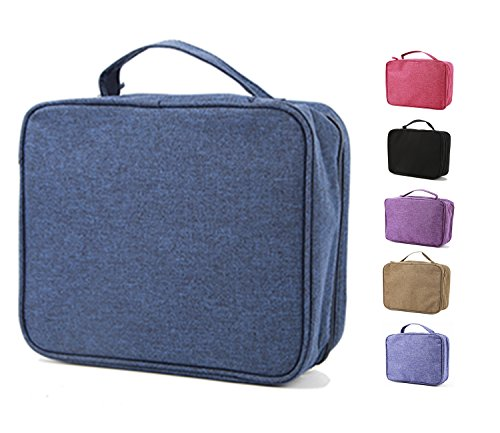 purifyou Classic Insulated Lunch Box - Compact, Easy Wash, Smooth Zipper & Lightweight - Tote Bag & Container, Lunch Bag for Men, Women, Kids, Boys, Girls, Adults (Gentlemen or Boys, Blue)