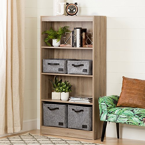 South Shore 4-Shelf Storage Bookcase, Rustic Oak