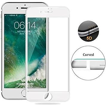 """866e3ff19c4 Para iPhone 8 Plus 5.5"""" Vidrio Cristal Templado Completo Curvo 5D  (NUEVA Versión Esquinas"""