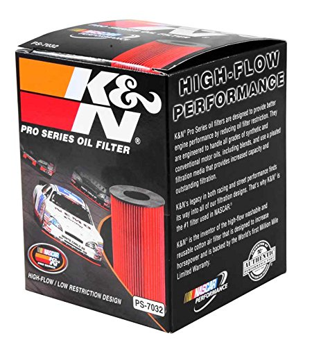 K&N PS-7032 Pro-Series Oil Filter Fit For PORSCHE 911 3.0L 3.4L 3.6L 3.8L MACAN V6 PANAMERA 3.0L 3.6L 4.8L CAYENNE 3.6L 4.8L BMW M5 M6 5.0L