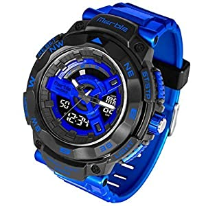 Waterproof Digital Dual Time Zone Multi Function Shockproof Outdoor Sports Watches