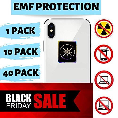 RADIATION PROTECTION FOR CELLPHONES/LAPTOP - ANTI EMF/EMR RADIATION STICKER - Radiation Shield Blocker - Remove Electronic Technologies Radiation - 10 PACK BUNDLE DEAL!