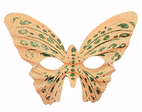 Face mask Shield Veil Guard Screen Domino False Front Halloween Makeup Prom Props Gold Butterfly Mask Children Adult Butterfly Mask Yellow