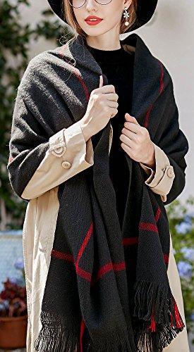 Grueso Fringe o Invierno Cubierta Para Negro Hombre Simple Disponible 60 Con Mujer Estilo 200cm Largo Bufanda Oto 4 Color gw8Xqn