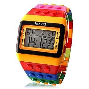 Shhors-Reloj mitb115cf con pulsera LED, correa multicolor y luz nocturna