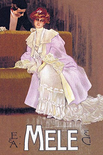 BuyEnlarge 0-587-00462-2-DC-36x24_032017 Lady in Lavender E&A Mele by Leopoldo Metlicovitz Wall Decal, 36