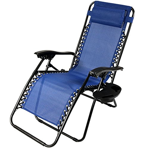 Sunnydaze-Zero-Gravity-Lounge-Chair-with-Pillow-and-Cup-Holder-Multiple-Colors-Available