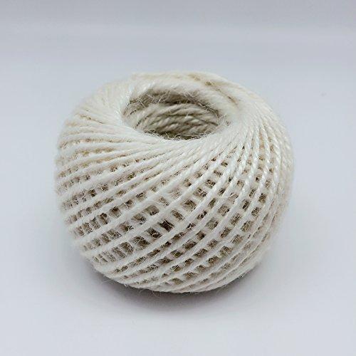 PEPPERLONELY 50M/Roll Jute Twine Cord Hemp Rope Cord 2mm, Cream