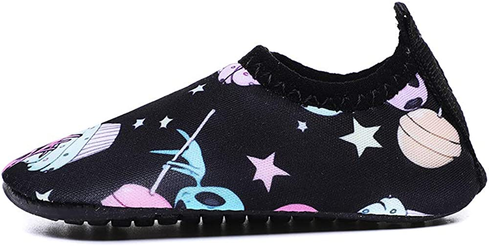 Athyior Chaussures deau pour Enfants B/éb/é Gar/çons Filles Mignonnes Chaussures Aqua Chaussettes /à S/échage Rapide pour Chaussures de Piscine /à la Plage L/ég/ères