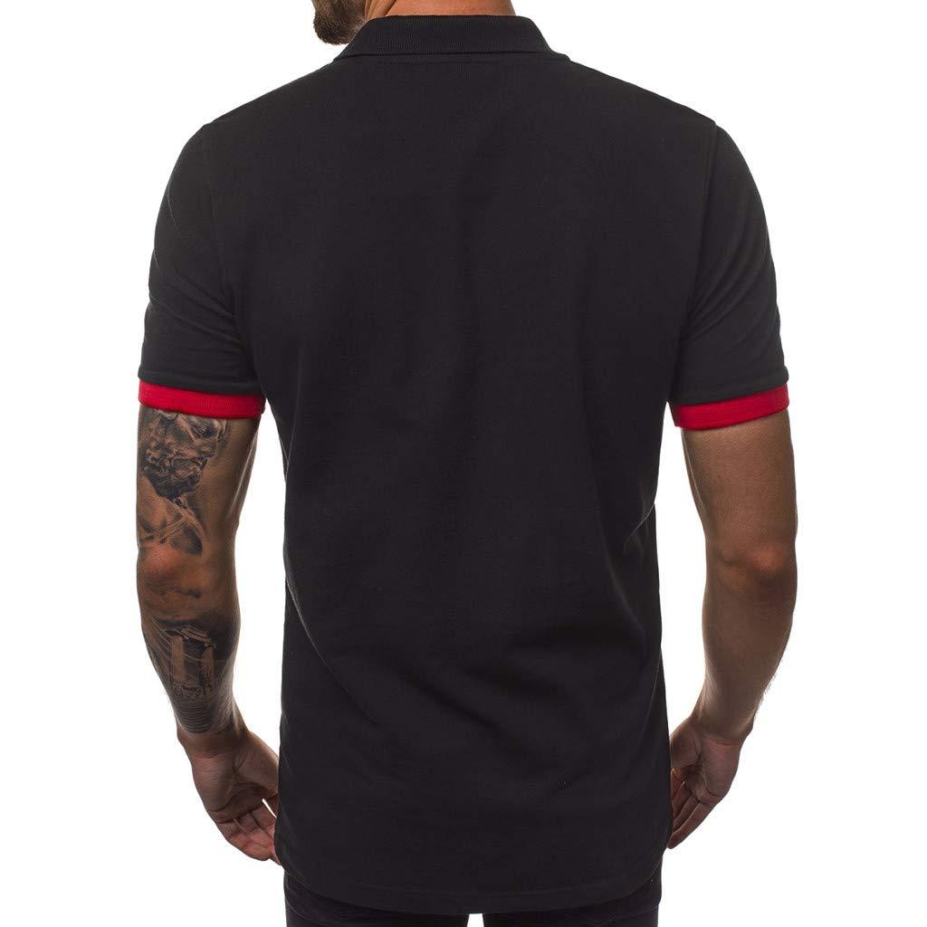 Amazon.com: Xlala - Camisas de polo para hombre, manga corta ...