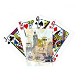 Travel Landmark Big Ben Leaning Tower of Pisa Poker Playing Cards Tabletop Game Gift