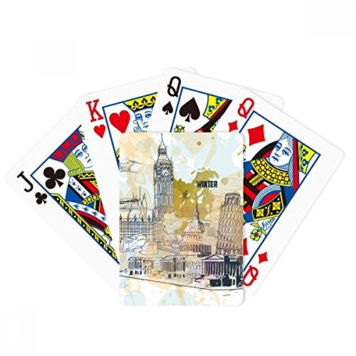 Travel Landmark Big Ben Leaning Tower of Pisa Poker Playing Cards Tabletop Game Gift by beatChong